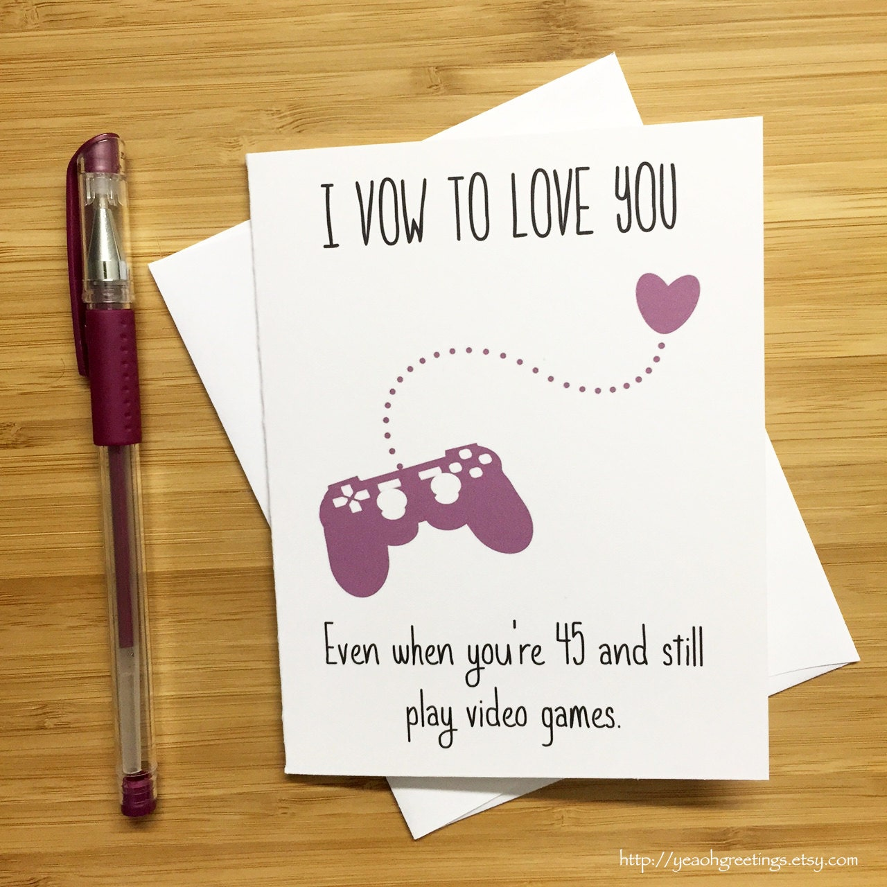 cute love card for video game lovers nintendo gift nes. Black Bedroom Furniture Sets. Home Design Ideas