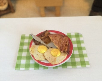 Bacon,  Eggs and Toast for 1:12 Scale Dollhouse or Barbie