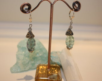 celtic flourite earrings