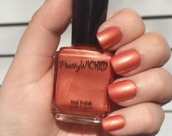 Tangerine Nail Polish, Astrid Polish, Coral Nail Polish, Orange Nail Polish, Shimmer Nail Polish, Orangey Nail Polish, Summer Nail Polish