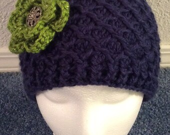 Crocheted Beanie, Adult Size
