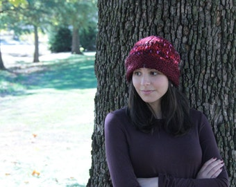 Red Confetti Knitted Hat