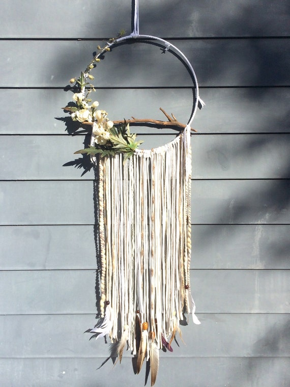 The Half Moon Dream Catcher Dreamcatcher Boho By