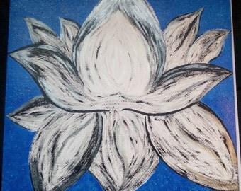 Original Flower Abstract Painting LightSpreadingArt