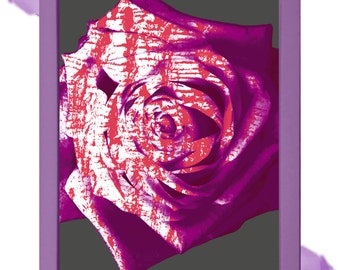 Abstract Rose Digital Art Print Floral
