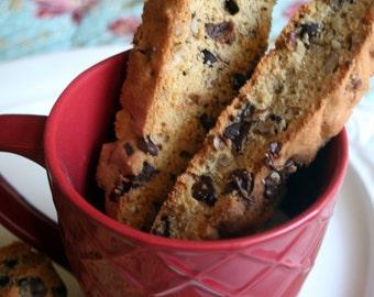 Chocolate Chip Pecan Biscotti