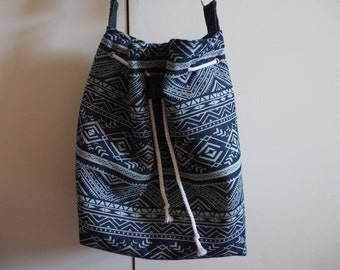 Aztec Denim Bucket Bag