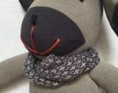 A Handmade Stuffed doggy doll. Holiday Gift or Unique Gift for Anyone.