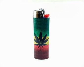 Marijuana Flag Custom Lighter - Cannabis, Weed