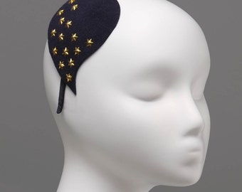 Agatha, Felt headband, Old-style fascinator, Casual hair accessory