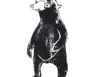 Bear - signed giclee print