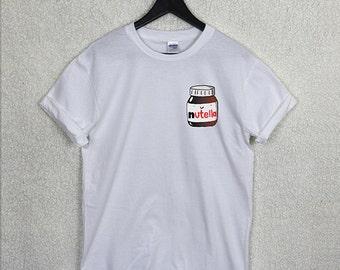 NUTELLA Pocket Print Tshirt Top Hipster Cute Urban Tumblr