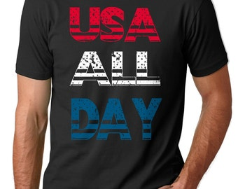 4th of July T-shirt USA Patriotic T-shirt  Independence Day Tee Shirt