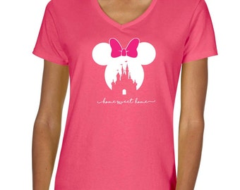 Disney Minnie Home Sweet Home Vneck Tshirt