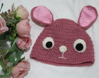 Cute Rabbit Hat Crochet Pattern