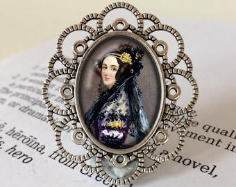 """Ada Lovelace Brooch - Ada Lovelace Jewelry, Women in Science Brooch, Mathematician Gift, """"Poetical Science"""" Gift, Ada Lovelace Jewellery"""