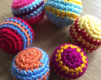 Little Crochet Ball with jingle/rattle