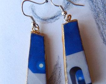 Terracotta Magritte earrings 2