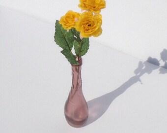 Purple stained glass bud vase/ Bud vase/ purple vase/ Small purple vase/ Small purple bud vase