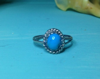 vintage sterling silver navajo turquoise ring