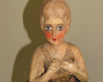 Folk Chalk Doll Sculpture