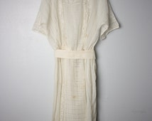 Edwardian Lace White Ivory Dress-Gown