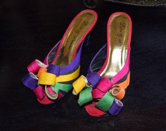 Vintage Women's Beverly Feldman Retro Hip Hop Love & Desire Sandals / Made in Spain