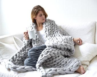 echarpe xxl grosses mailles en laine 100 par unlongdimanche. Black Bedroom Furniture Sets. Home Design Ideas