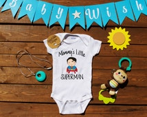 Mommy's Little Superman Onesie®, Cute Baby Boy Onesie, Baby Boy Clothes, Baby Shower Gift, Baby Christmas Gift, Gift for Baby, Superman