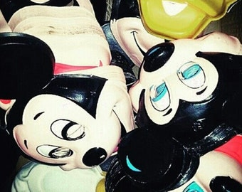 Circa 1970's Mickey Mouse Donald Duck by Walt Disney Halloween Masks designed by legendary Ben Cooper of Brooklyn, NY