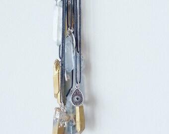 LION- Mystic Unicorn Crystal Pendant Necklace Boho Jewelry- Bohemian Jewelry- Gold Mystic Titanium Quartz Crystal Necklace- Hippie- Mermaid