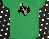 texas baby onesie and tee -- buck with specs, deer with glasses -- custom state