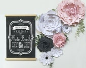 Paper Flower Collection - ASSEMBLED PAPER Flowers - Wedding Photo Booth. Photo Backdrop. Wedding Reception Decor