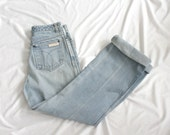 "1970s Light Wash Calvin Klein Denim | Vintage 70s High Rise Straight Leg Jeans | 27""W Small S"