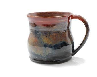 16 oz Mug Ceramic Rustic Glossy Ceramic Mug Large