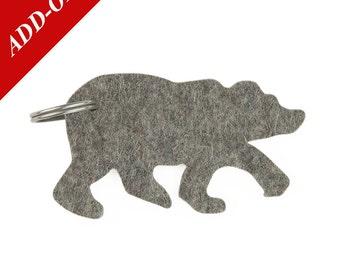 Designer Wool Felt Keychains - Bears, Add-On Item