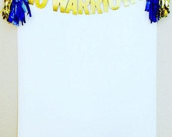 Warriors Party Banner, Warriors Banner, Go Warriors, Warriors Glitter Banners, Warriors Party, Go Warriors, Warriors Birthday Party,Warriors