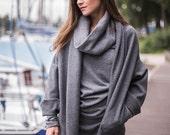 Wool cardigan | Oversized cardigan | Gray cardigan | Warm cardigan | LeMuse wool cardigan