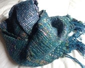 Handwoven Recycled Sari Silk Scarf - Reserved for Andrea