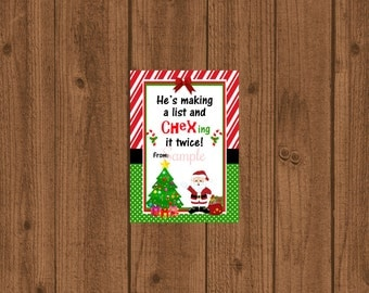 Chex Mix Gift Tags, Chex Mix Christmas, Printable Chex Mix Treat Bag, Instant Download