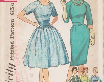 Simplicity 4232 / Vintage Sewing Pattern / Raglan Sleeve Dress / Size 14 Bust 34