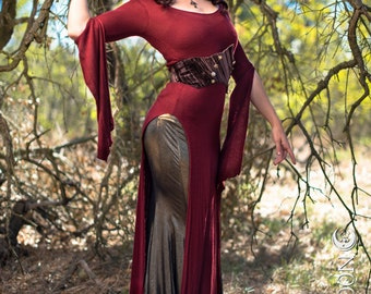 Plus Size Available: The Red Panel Dress by Opal Moon Designs (Sizes XS- 3XL)