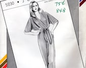 "1980s Wrap Top Jumpsuit - Vintage Pattern Stretch & Sew 5230 - Bust 30 to 46"" UNCUT FF"