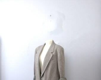 Vintage 80's grey blazer, wool blazer jacket, size 38 / 40