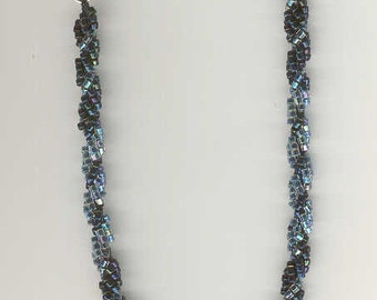 Artisan Spiral Weave with Sterling Necklace