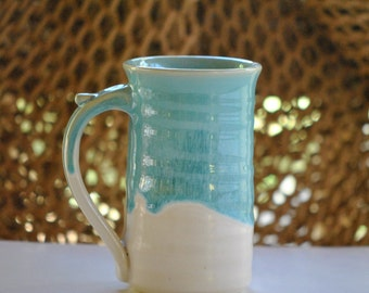 Large (16 ounce) Stoneware Coffee Mug in Turquoise