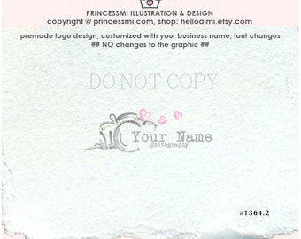 1364-2 Premade Logo Design / Custom logo design / photography logo / watercolor camera logo / watermark design