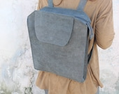 Leather backpack laptop, Gray Backpack, Big Backpack, Women Backpack, Travel Backpack, Gray Leather bag, leather rucksack, school backpack
