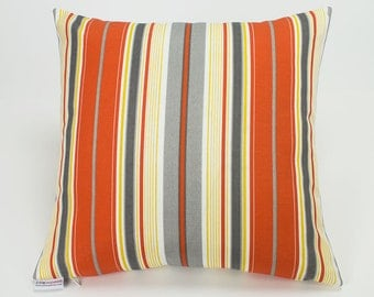 Outdoor Citrus Terrace Stripe Pillow Cover - 16 inch