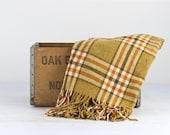 Vintage Wool Blanket, Plaid Wool Blanket, Pendleton Wool Blanket, Wool Throw Plaid Stadium Blanket, Tartan Plaid Blanket, Vintage Throw